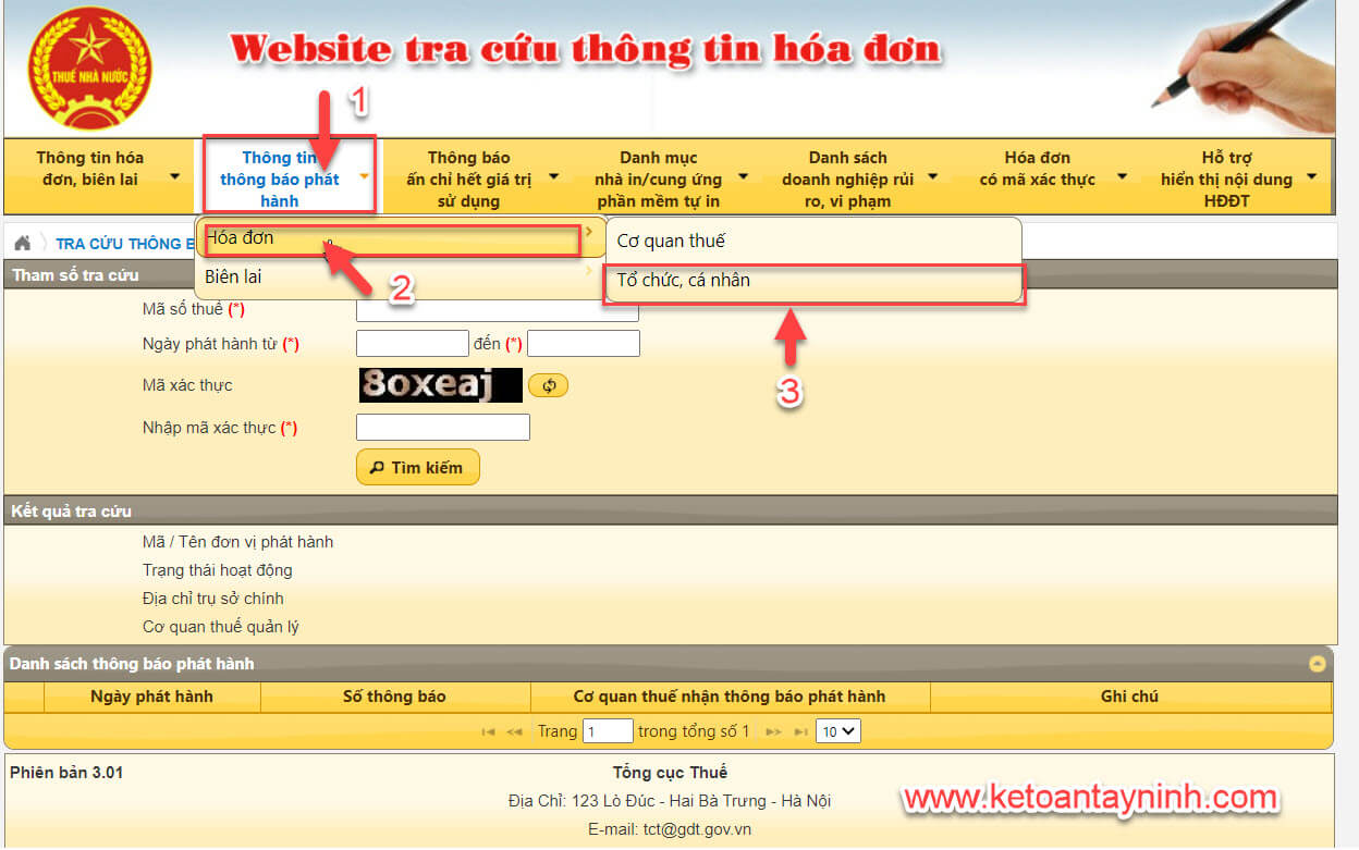 Cách kiểm tra thông báo phát hành hóa đơn điện tử thuế đã duyệt chưa?